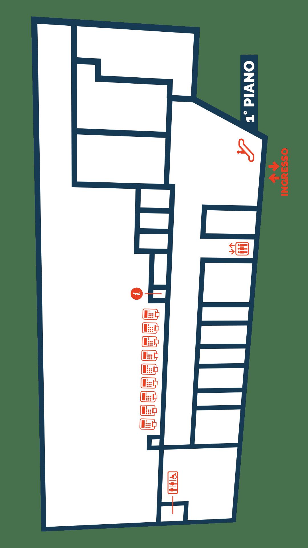 Gallerie Big, Mappa Negozi Alba