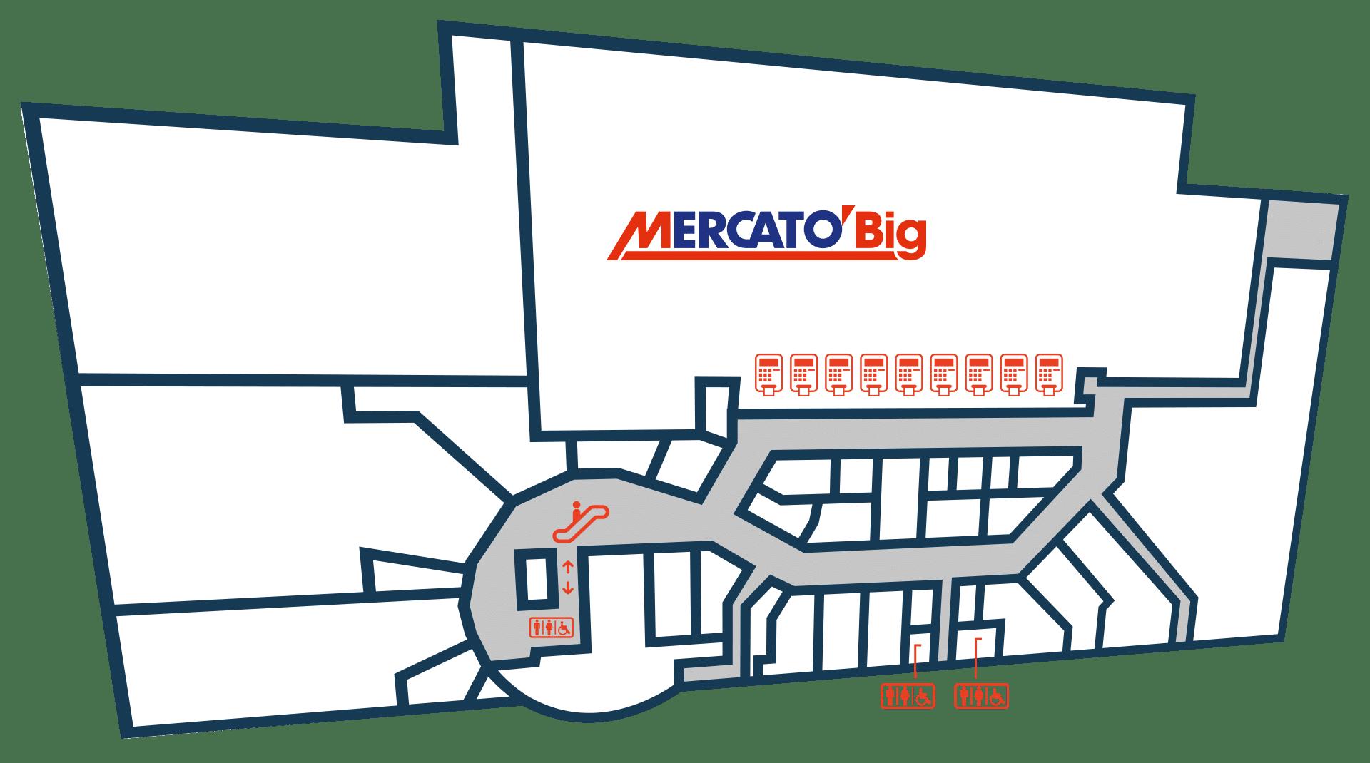Gallerie Big, Mappa Negozi Cuneo